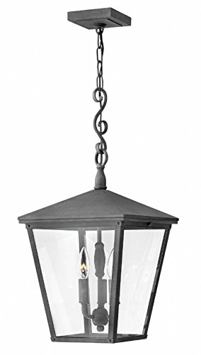 - Hinkley 1432DZ Transitional Three Light Outdoor Hanging from Trellis collection in Bronze/Darkfinish,