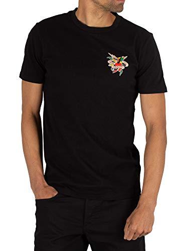 Ed Hardy Men's Till Death T-Shirt, Black, - Men Hardy T-shirts Ed