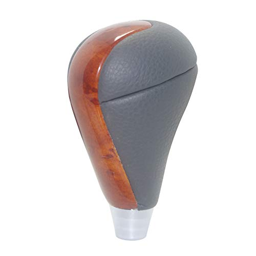 ood Gear Shift Knob for TOYOTA Lexus ES300 RX300 GS350 LS460 IS300 HS250h CT200h Camry Crown RAV4 Landcruiser Hiace Chrome ()