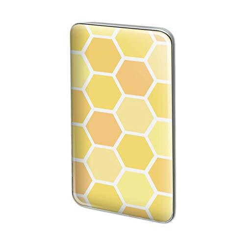 GRAPHICS & MORE Yellow Honeycomb Pattern Metal Rectangle Lapel Hat Pin Tie Tack Pinback