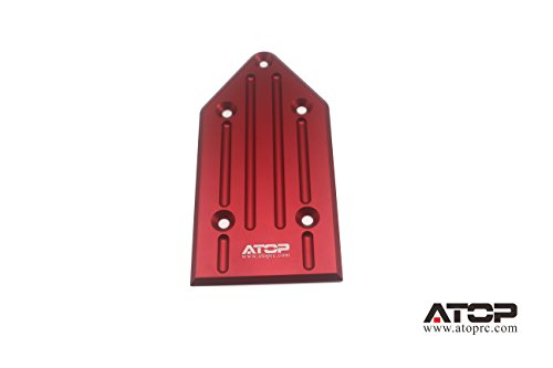 ATOP RC Rear Chassis Guard Plate for Losi 5ive-T and Mini (Red)