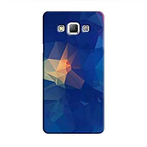 Cover It Up - Blue Pixel Orange Triangles Samsung Galaxy A7 Hard Case