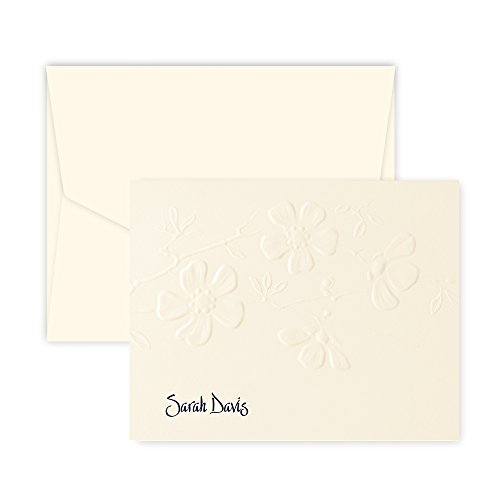 Personalized Blossom Note - Raised Ink (Ivory)