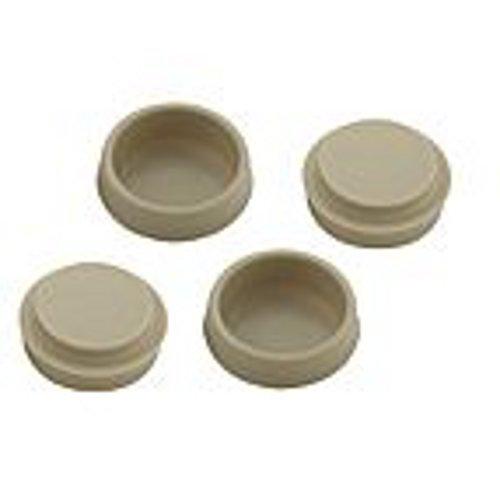Bodenschoner für Möbelstücke aus starkem Kunststoff, 50 mm, 4 Stück, cremefarben