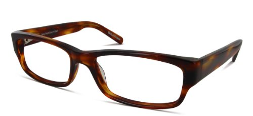 Benji Frank Harrison Thick Temple Rectangle Men Women Prescription Rx Designer Eyeglasses - Glasses Thick Rectangle Black