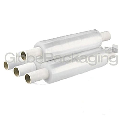 6 x Rolls Extended Core Clear Pallet Stretch Shrink Wrap 400mm x 250M GP Globe Packaging