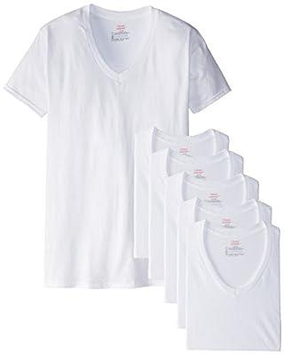 Hanes Men's FreshIQ V-Neck T-Shirts (Pack of 6)