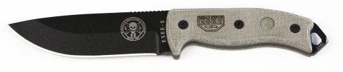 ESEE 5P Black Tactical Survival Knife w/ Sheath