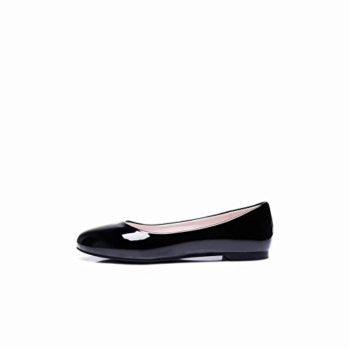 Slip Donna Latasa In Pelle Verniciata Color Nero