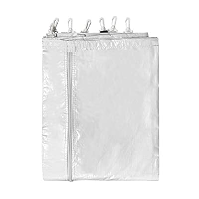 7' Foot x 15' Foot Party & Canopy Tent Sidewall with Zipper - Translucent PVC Vinyl Material - for Wedding, Event, and Party Tents with Clips and Grommets (Single Side Wall Only Not Complete Tent): Sports & Outdoors