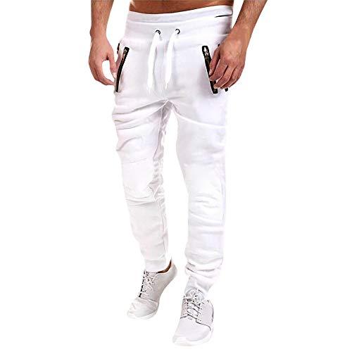 Bas Mode En Gymnastique Blanc Sport Coton Survêtement De Kppong Casual Jogging Homme Pantalon Unfcz0PW76