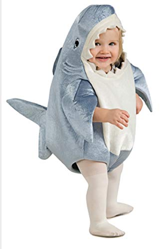 Rubie's Costume Co Unisex-Child Deluxe Shark Romper Costume, Gray, ()