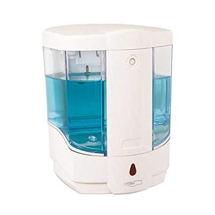 Flora & Flosoft automático dispensador de jabón, Blanco/Transparente, 30 x 30 x