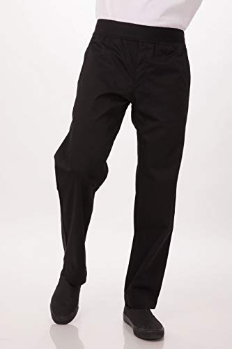 Chef Works Men's Lightweight Slim Chef Pants, Black, Small (Chef Ultimate Pants)