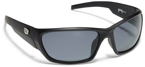 Strike King Plus Sunglasses (Black/Gray, Wide Ear Pieces, Adult), Outdoor Stuffs