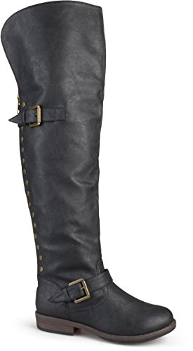 Brinley Co Women's Sugar Over The Knee Boot, Black, 9 Regular US
