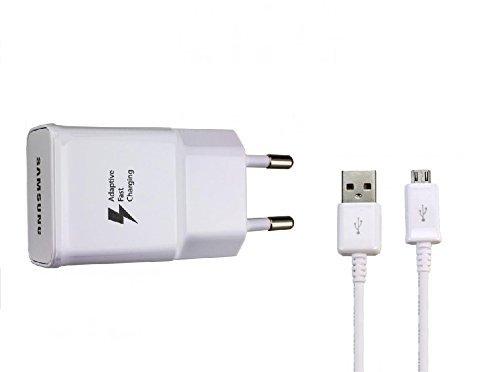 Samsung EP-TA20EWE Aufladekabel + Datenkabel für Galaxy, weiß