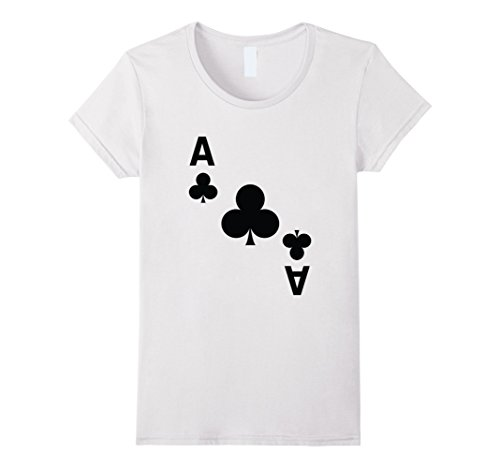 Costume Las Contest Halloween Vegas (Womens Ace of Clubs poker playing card halloween costume tee shirt XL)