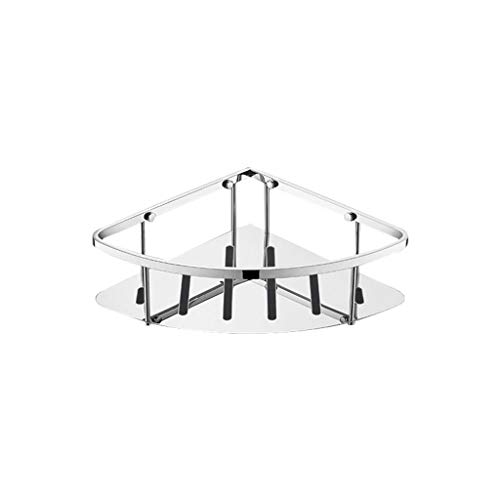 DJDL Bathroom Corner Shelf and Shower Caddy Basket SUS304 Stainless Steel Triangular Tub Wall Mount Polished Finish ()