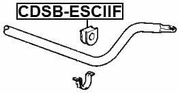 Front Stabilizer Bushing D36 Febest CDSB-ESCIIF Oem 15005612