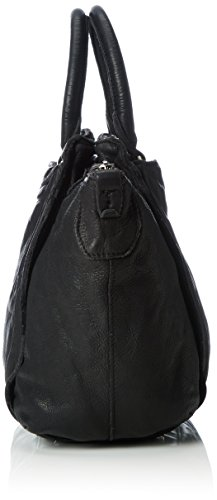 Liebeskind Berlin Damen Fuji Vintag Henkeltaschen, 46x26x20 cm Schwarz (Ninja Black 9998)
