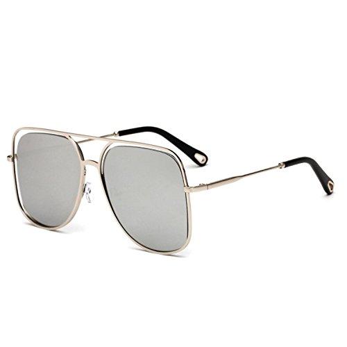 Gafas a de Europeo Marco b Irregulares Estilo Mujer de de Metal Sol Opcional Lentes y uv400 Multicolor RDJM Sol para Gafas Americano xYZAwqS61