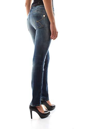 Ki6bl024 Mujer Medio Kaos Azul Denim Vaqueros dPwqxY