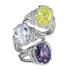 Avon Bold CZ Rope Ring - Clear Stone - Size 7