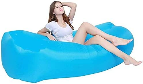 裏庭レイクサイドビーチのための設計最適ソファー漏れインフレータブルプールインフレータブルラウンジチェアエアーソファハンモックポータブルウォータープルーフアンチエア (Color : E Blue, Size : 190T)