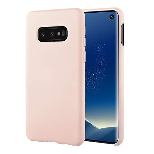 UNIYA Galaxy S10e Case, Slim Flexible TPU Liquid Silicone Rubber with Microfiber Cloth Lining Shockproof Protective Case (Pink)