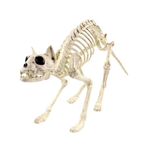 BESTOYARD スケルトンの小道具ハロウィン動物の恐るべき動物の骨格フレーム(猫)