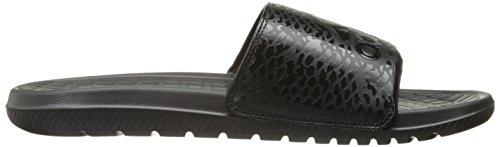 Adidas Voloomix Grafische Mannen Zwemmen Slide Zwart / Zwart / Zwart
