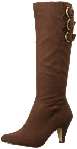 Bella Vita Women's Transit II Plus Knee-High Shafted Boot,Brown Super Suede,12 W US