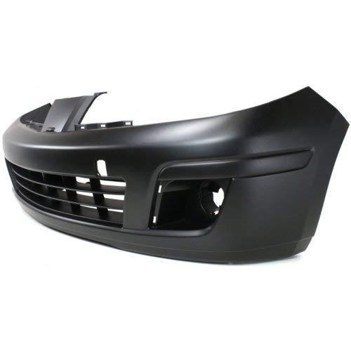 Front Bumper Cover for NISSAN VERSA 2007-2012 Primed with Fog Light Holes Hatchback//Sedan