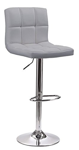 Miraculous Neo Cuban Swivel Chrome Metal Base Gas Lift Faux Leather Kitchen Breakfast Bar Stool Grey Pdpeps Interior Chair Design Pdpepsorg