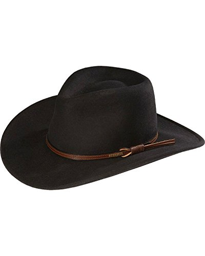 Stetson Men's Bozeman Wool Felt Crushable Cowboy Hat Black ...