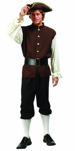 RG Costumes Men's Colonial Man, Brown, One Size (Colonial Day Costumes)