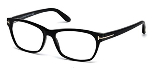 TOM FORD Women's TF 5405 001 Shiny Black Clear Butterfly Eyeglasses - Butterfly Tom Eyeglasses Ford