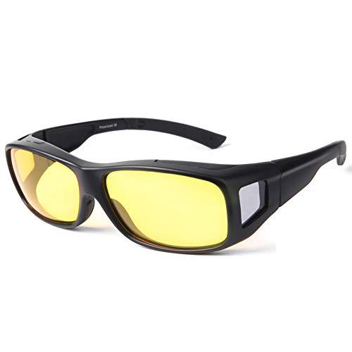 Night Vision Glasses Driving for Men Women anti glare Polarized HD Night Glasses Wrap Around Prescription - Around Eyewear Wrap