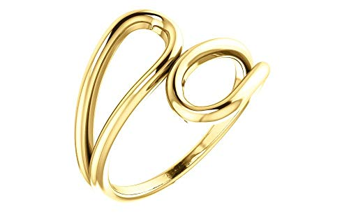 (Jewels By Lux 14K Yellow Gold Double Loop)