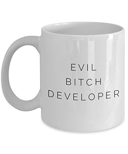 Evil Bitch Developer, 11Oz Coffee Mug Unique Gift Idea Coffee Mug - Father's Day/Birthday/Christmas ()