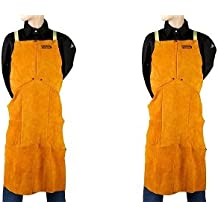 Lincoln Electric Brown One Size Flame-Resistant Leather Welding Apron