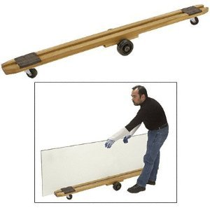"Cr Laurence 72"" Plate Glass Dolly - 13066"