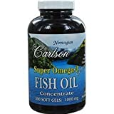 Carlson by Super Omega 3 Gems Fish Oil Concentrate –300 Soft Gels Review