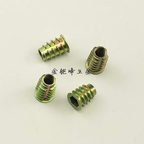 10x aleación de zinc Hex cabeza de la unidad tuerca roscada para madera M4-K