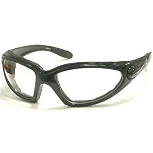 Motorcycle Padded Glasses Clear Night Riding Anti Fog