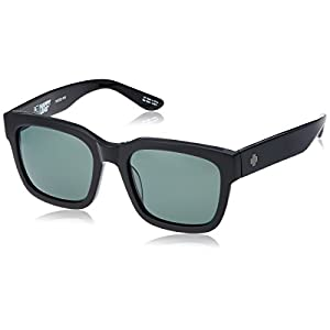 Spy Optic Unisex Trancas Happy Lens Collection Sunglasses, Black/Grey Green, One Size Fits All