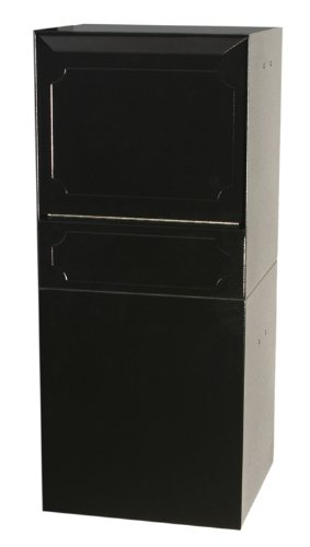 dVault Parcel Protector Vault DVU0050 Locking Post/Column Mount Mailbox (Black) ()