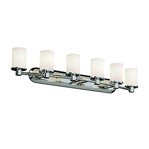 Justice Design Group Lighting FSN851610OPALCROM FusionCollection Rondo 6-Light Bath Bar Crom 6 Light Fusion