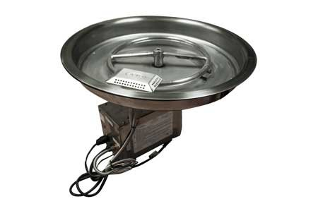 19SSHWI 19in Bowl Pan Complete Electronic Ignition Firepit Insert for Natural Gas ()